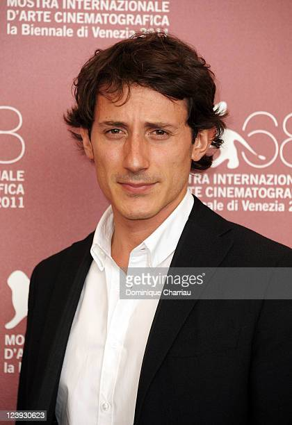 Michele Alhaique attends the Qualche Nuvola The Cricket Photocall during the 68th Venice International Film Festival at Palazzo del Casino on...