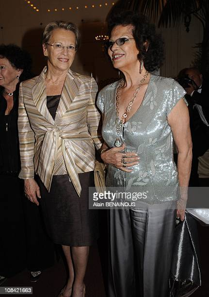 Michele AlliotMarie and Claudia Cardinale in Paris France on June 29th 2009