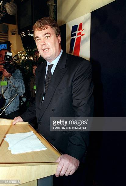 Michele AlliotMarie becoming new president of the RPR party in Paris France on December 04 1999 JEANPAUL DELEVOYE