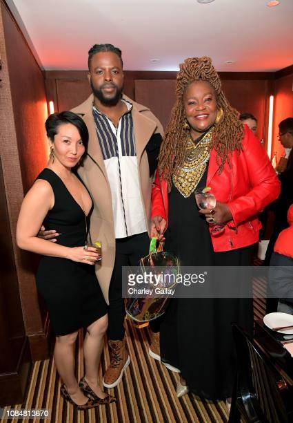 Michele Baer Winston Duke and Cora Pantin attend MCM x GQ Celebrate 2018 Breakout Star Winston Duke The Restaurant at Montage Beverly Hills on...
