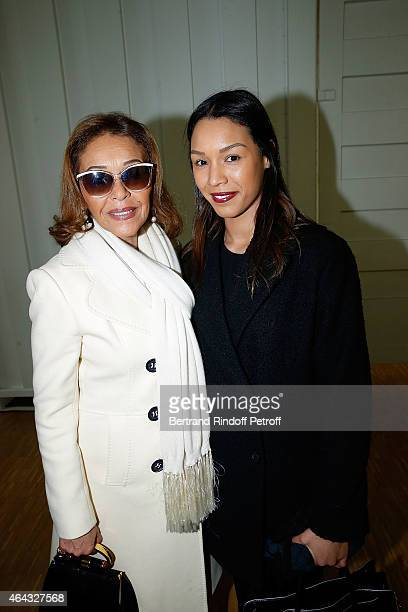 Michele Bennett and Anya Duvalier attends the 'Herve Telemaque' Retrospective Exhibition Opening at Centre Pompidou on February 24 2015 in Paris...