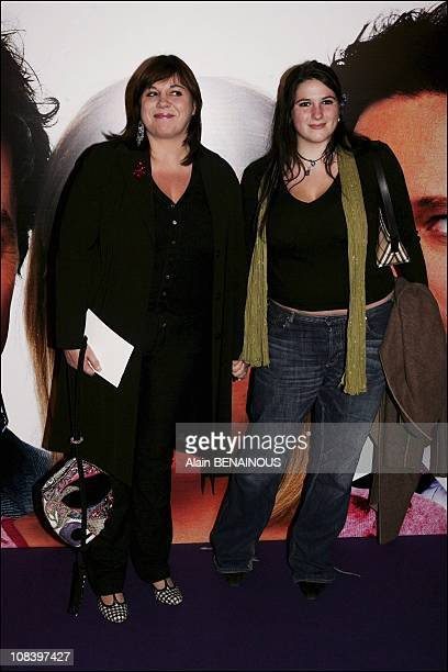 Michele Bernier and daughter in Paris France on November 03 2004
