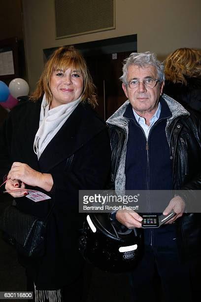 Michele Bernier and Michel Boujenah attend Michael Gregorio performs for his 10 years of Career at AccorHotels Arena on December 16 2016 in Paris...