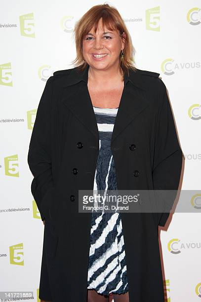 Michele Bernier attends 'C a Vous' 500th Edition Celebration on March 22 2012 in Paris France