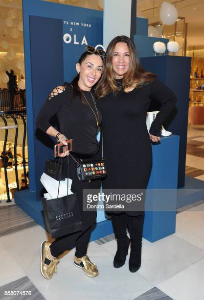 Michele Bohbot and HOLA Chair Committee Price Arana attend a Cocktail Event in support of HOLA Heart of Los Angeles hosted by Barneys New York at...