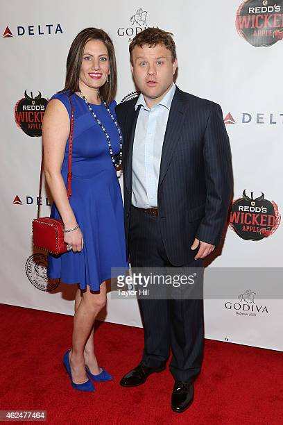 Michele Caliendo and Frank Caliendo attend the Friars' Club Roast of Terry Bradshaw at the Arizona Biltmore on January 29 2015 in Phoenix Arizona