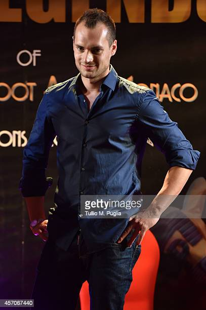 Michele Caliendo attends the Golden Foot footprint ceremony at MonteCarlo Bay Hotel on October 11 2014 in MonteCarlo Monaco
