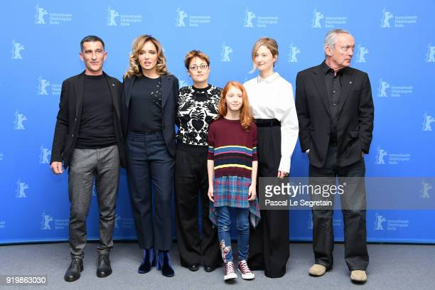Michele Carboni Valeria Golino Laura Bispuri Sara Casu Alba Rohrwacher and Udo Kier pose at the 'Daughter of Mine' photo call during the 68th...