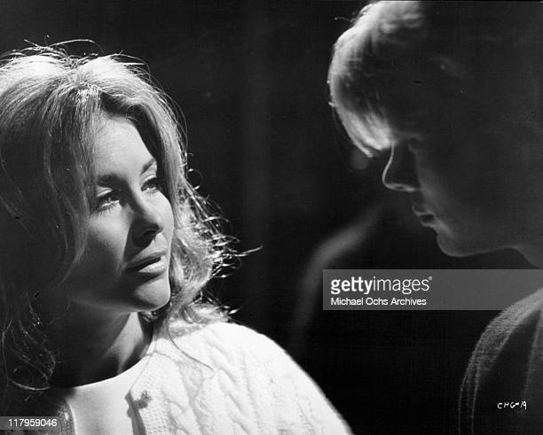 Michele Carey discusses with Kent Lane their relationship in a scene from the film 'Changes' 1969