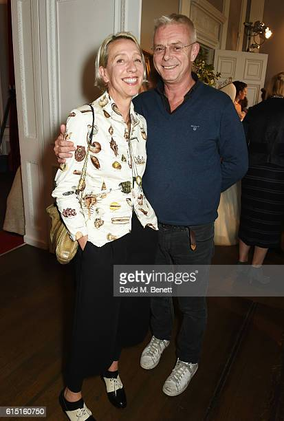 Michele Clapton and Stephen Daldry attend a presentation featuring costumes from new Netflix Original series The Crown with designer Michele Clapton...
