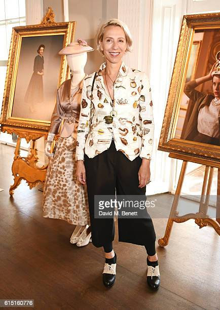 Michele Clapton attends a presentation featuring costumes from new Netflix Original series The Crown with designer Michele Clapton at the ICA on...