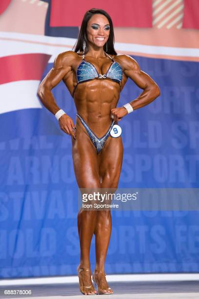 Michele De Silva Pinto competes in Figure International as part of the Arnold Sports Festival on March 3 at the Greater Columbus Convention Center in...
