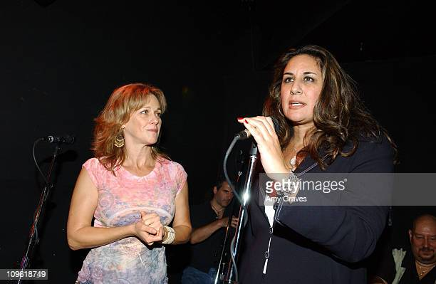 Michele Dominguez Greene and Bonnie Abaunza Director of Artists for Amnesty