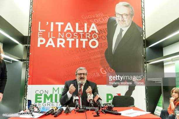 Michele Emiliano, governor of Puglia attends the inauguration of his election committee for the primaries of the Democratic Party on March 29, 2017...