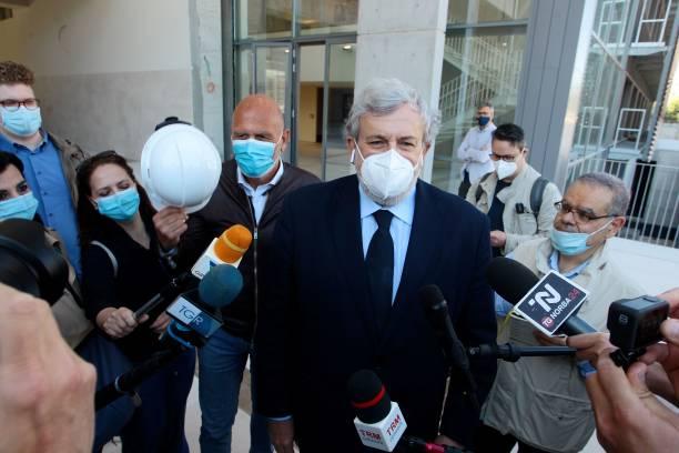 ITA: Albert De Pineda Visits The New Pavillion Of The Bari Hospital
