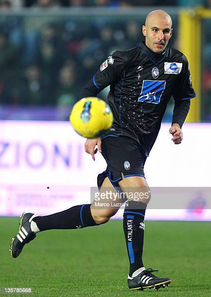 Michele Ferri of Atalanta BC in action during the Serie A match between Atalanta BC and Catania Calcio at Stadio Atleti Azzurri d'Italia on December...