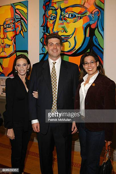 Michele Gerber Klein, Seth Nagdeman and Nicole Brewer attend MANSIONART.com IVAN JENSON Auction Preview at National Arts Club on November 9, 2007 in...