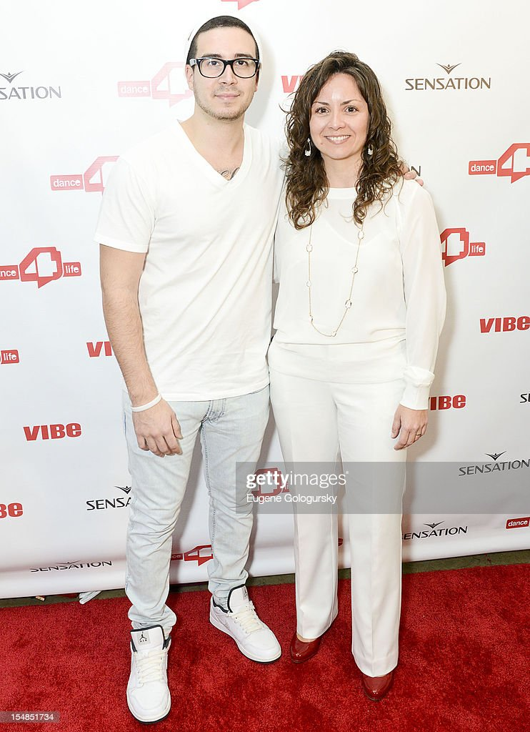Michele Giordano and Vinny Guadagnino attend the dance4life USA Cocktail Party Supported By Sensation at Milk Studios on October 27, 2012 in New York City.