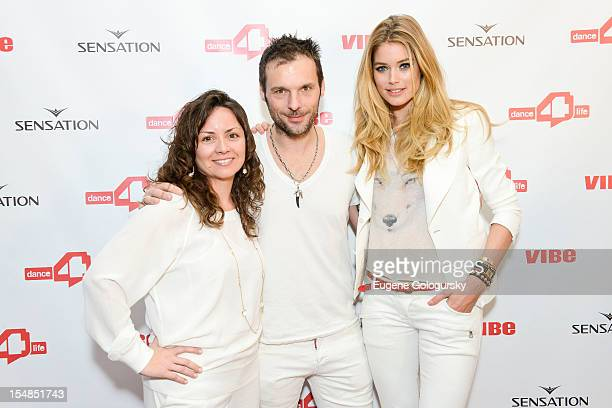 Michele Giordano, Sensation CEO Duncan Stutterheim and Model Doutzen Kroes attend the dance4life USA Cocktail Party Supported By Sensation at Milk...