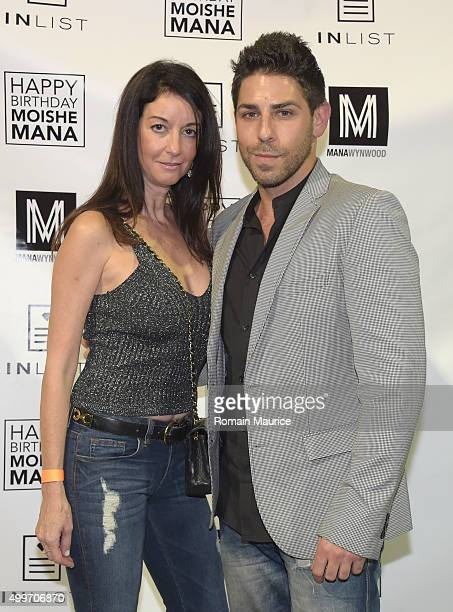 Michele Goldstein and David Haller attends InList 1 Year Anniversary and Moishe Mana Birthday at Mana Wynwood on December 2 2015 in Miami Florida