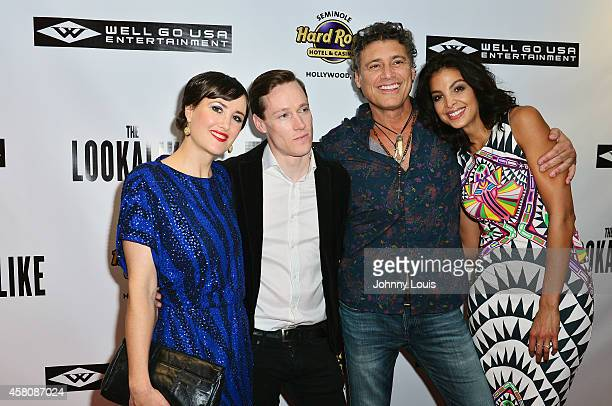 Michele Gray Kaine Harling Steven Bauer and Felisha Terrell attend The Lookalike premiere at Hard Rock Live in the Seminole Hard Rock Hotel Casino on...