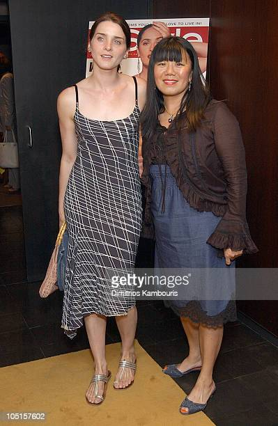 Michele Hicks and Anna Sui during Searching For Debra Winger Screening Hosted by InStyle Inside Arrivals at Bryant Park Hotel in New York City New...