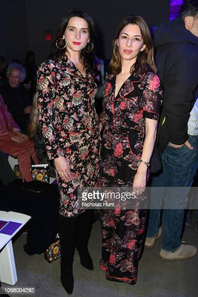 Michele Hicks and Sofia Coppola attend the Anna Sui front row during New York Fashion Week: The Shows at Gallery I at Spring Studios on February 11,...