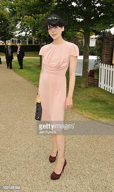 Michele Hicks attends Ladies Day at the Glorious Goodwood Festival at Goodwood on July 29 2010 in Chichester England