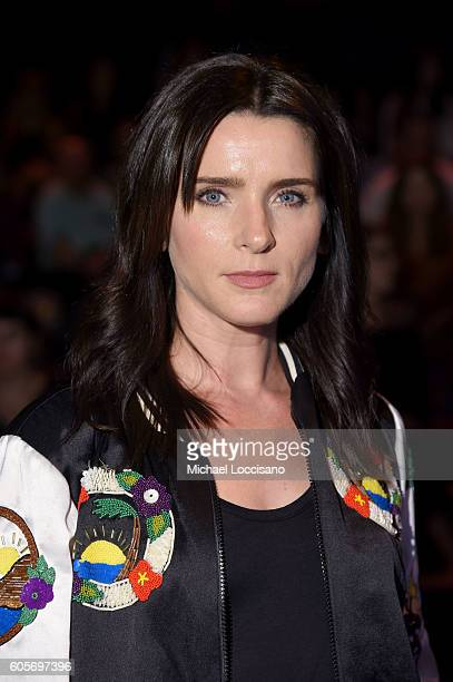 Michele Hicks attends the Anna Sui fashion show during New York Fashion Week The Shows at The Arc Skylight at Moynihan Station on September 14 2016...