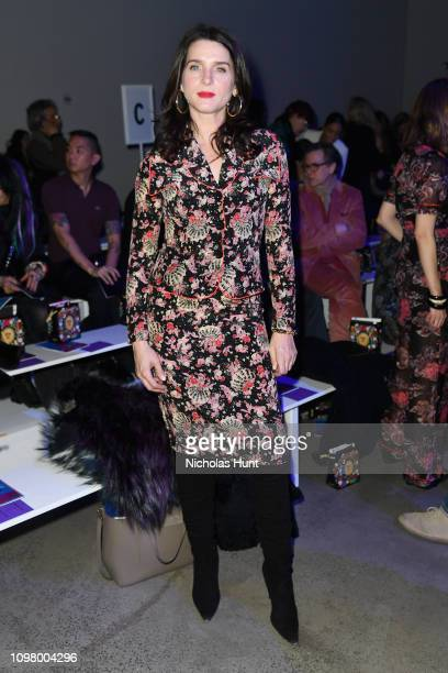 Michele Hicks attends the Anna Sui front row during New York Fashion Week The Shows at Gallery I at Spring Studios on February 11 2019 in New York...