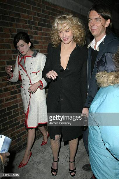 Michele Hicks Daryl Hannah and guest during Olympus Fashion Week Fall 2004 Marc Jacobs Arrivals at New York State Armory in New York City New York...