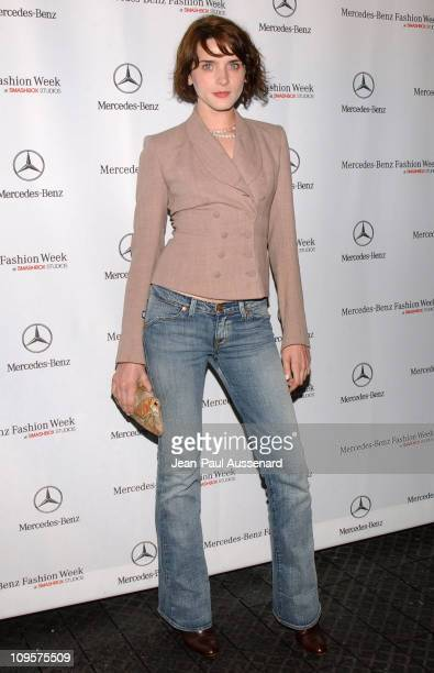 Michele Hicks during MercedesBenz Spring 2005 Fashion Week at Smashbox Studios Day 3 Arrivals at Smashbox Studios in Culver City California United...