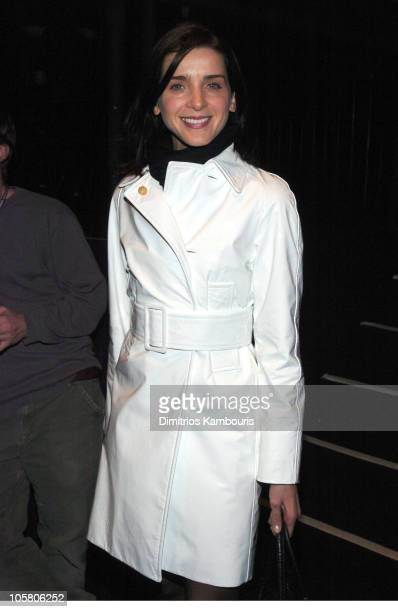 Michele Hicks during Olympus Fashion Week Fall 2004 Behnaz Sarafpour Front Row at Studio Noir at Bryant Park in New York City New York United States