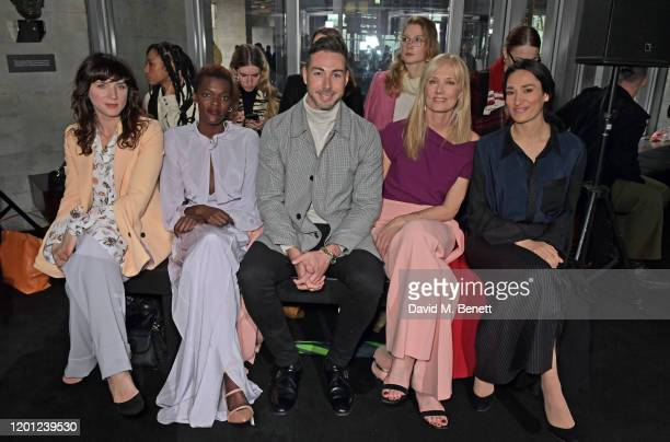 Michele Hicks Sheila Atim Dr Peter McQuillan Joely Richardson and Sian Clifford attend the Roland Mouret show during London Fashion Week February...