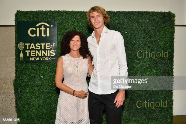 Michele Imbasciani and tennis player Alexander Zverev Jr attend the Citi VIP Lounge at Taste Of Tennis at W New York on August 24 2017 in New York...