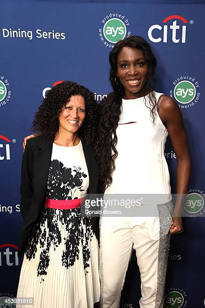 Michele Imbasciani of Citibank and tennis player Venus Williams attend Taste Of Tennis Week Taste Of Tennis Gala at the W New York on August 21 2014...