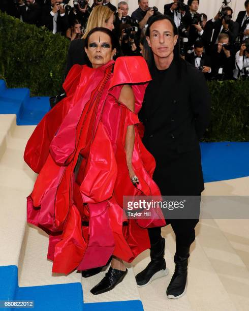 Michele Lamy and Rick Owens attend 'Rei Kawakubo/Commes Des Garcons Art of the InBetween' the 2017 Costume Institute Benefit at Metropolitan Museum...