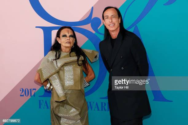 Michele Lamy and Rick Owens attend the 2017 CFDA Fashion Awards at Hammerstein Ballroom on June 5 2017 in New York City