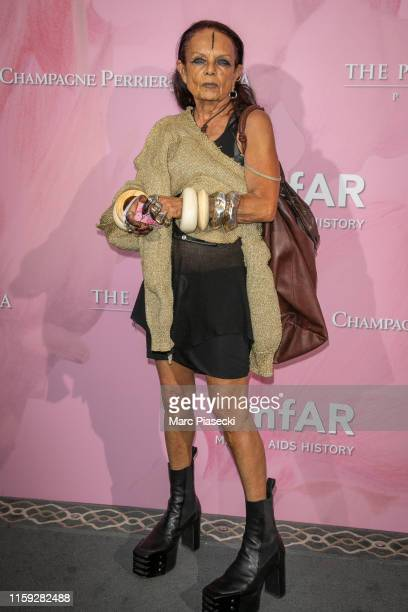 Michele Lamy attends the Amfar Gala At The Peninsula Hotel In Paris on June 30, 2019 in Paris, France.