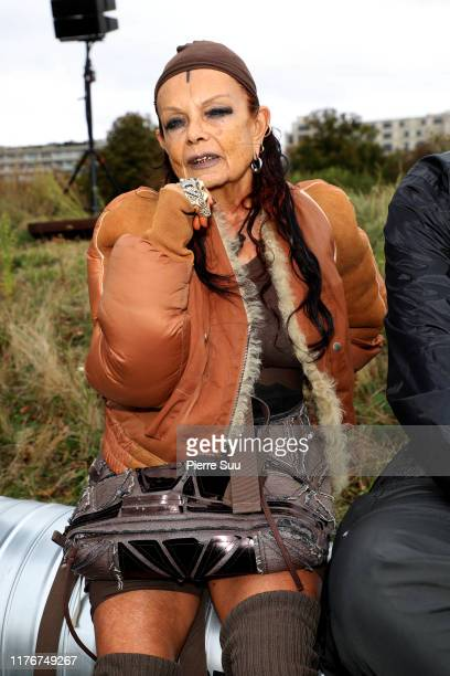Michele Lamy attends the Marine Serre Womenswear Spring/Summer 2020 show as part of Paris Fashion Week on September 24, 2019 in Paris, France.