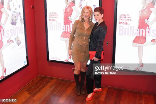 Michele Laroque and Oriane Deschamps during the 'Brillantissime' Photocall at Publicis Champs Elysees on January 15 2018 in Paris France