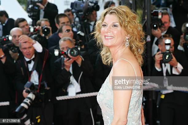 Michele Laroque arrives at the premiere of 'Chacun Son Cinema' during the 60th Cannes Film Festival