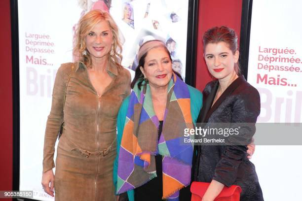 Michele Laroque Francoise Fabian Oriane Deschamps during the 'Brillantissime' Photocall at Publicis Champs Elysees on January 15 2018 in Paris France