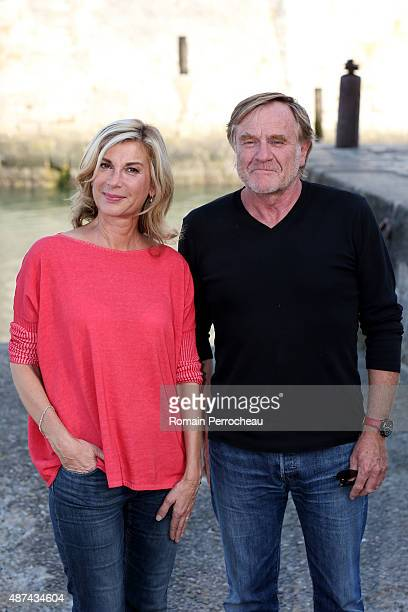 Michele Laroque jury 's president and Quentin Raspail founding president attends the Jury Photocall as part of the 17th Festival of TV Fiction on...