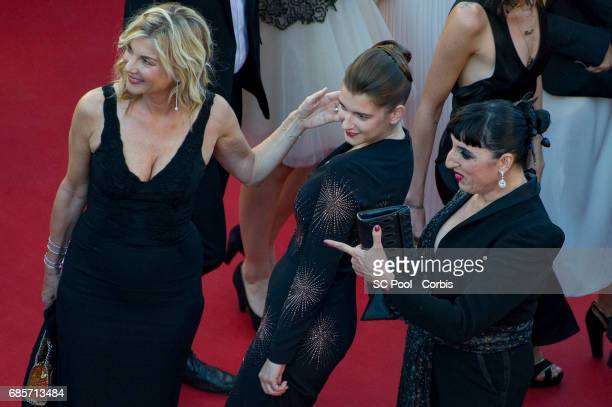 Michele Laroque Rossy de Palma and daughter Oriane Deschamps attend the 'Okja' premiere during the 70th annual Cannes Film Festival at Palais des...