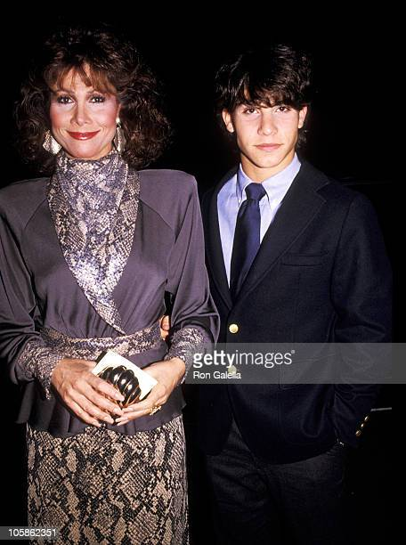 Michele Lee and son David Farentino during Variety Arts Club Celebrity Tribute to Lucille Ball at NBC TV Studios in Burbank California United States