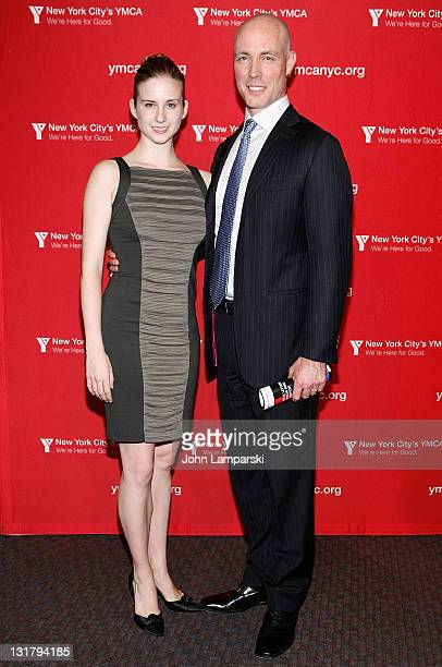 Michele Lee Wiles and James McCullough pose during the YMCA of Greater New York's Arts & Letters auction and reception at the Frederick P. Rose Hall,...