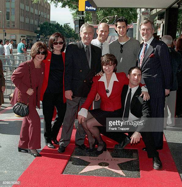 Michele Lee with members of her family including David and James Farentino husband Fred Rappoport