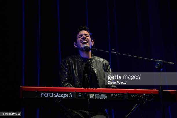 Michele Leonardi performs live on stage at the Pala Alpitour on November 25, 2019 in Turin, Italy.