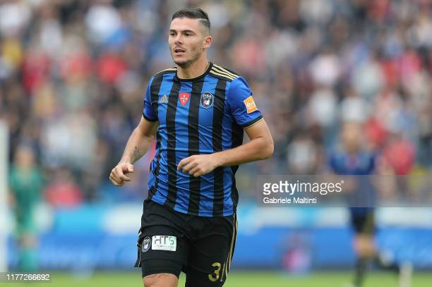 Michele Marconi of Pisa SC in action during the Serie B match between Pisa SC and FC Crotone at Arena Garibaldi on October 20, 2019 in Pisa, Italy.